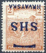 Jugoslawien / Kroatien Mi.Nr. 66 * ungebraucht mit Falz, kopfstehender Aufdruck