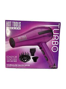 New! Hot Tools Helix Turbo Ionic Tourmaline Salon Dryer - Purple