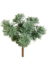 "Jade Succulent Plant ~ 6"" x 9"" Pick Filler Greenery Silk Wedding Flowers Bouquet"