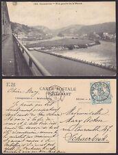 Belgique 1910 Timbre CARITAS sur Cp ANSEREMME pour Schaerbeek.............X1593