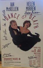 Ian McKellen, Helen Mirren ++ Signed DANCE OF DEATH Broadway Poster Windowcard