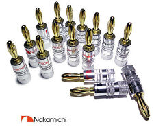 Nakamichi Banana Plugs x16 HiFi High Quality Gold plated Speaker Plugs UK Dealer