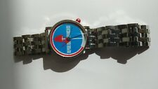 ALAIN SILBERSTEIN WATCH with steel bracelet. New Old Stock. Made in France