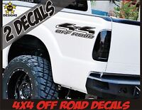 4x4 Truck Bed Decals MATTE BLACK Set for Ford F-150, Super Duty, F-250, Ranger