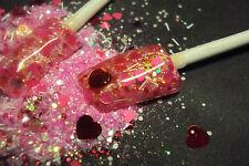 glitter mix acrylic gel nail art  crafts    SWEET VALENTINE
