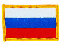 FLAG PATCH PATCHES RUSSIA RUSSIAN  RON ON COUNTRY EMBROIDERED WORLD FLAG
