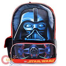 "Lego Star Wars Darth Vade  School Backpack  16"" Large Boys Book Bag"