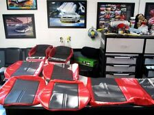1982 92 Camaro IROC Z Z28 Seat covers in correct torch Red color W/Black inserts