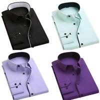 Herren Hemde Klassic Hemden Buisness T-shirt Shirt Oberteile Tops Slim Fit PD