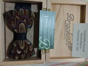 Brackish original Pheasant feather bowtie brand new, 4.75 x 2.5 obo
