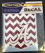University of Alabama Medium Chevron Pocket Car Decal with Script A