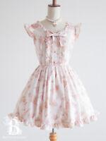 🌹LIZ LISA🌹Parasol Floral One Piece Dress Ribbon White Hime Lolita Japan F051