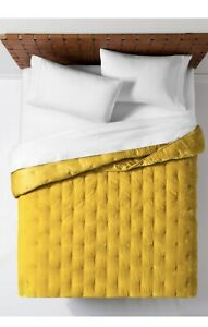 New Opalhouse Citron Yellow Tufted Velvet Rayon Blend Queen Quilt