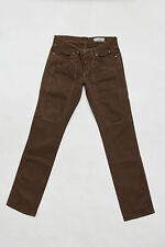 JECKERSON LADIES JEANS DENIM BROWN STRAIGHT LEG STRETCH FIT ITALY W28 UK10 LOOK
