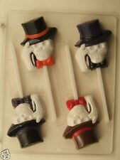 SKELETON SKULL TOP HAT LOLLIPOP CLEAR PLASTIC CHOCOLATE CANDY MOLD H088