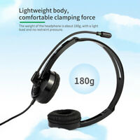 USB Wired Stereo Microphone Headset Noise Cancelling Earphones Headphones for PC