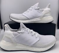 Adidas Running UltraBoost 20 Triple White Mens Size EF1042