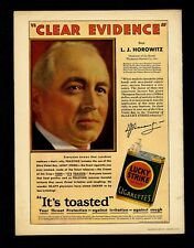 LUCKY STRIKE CIGARETTES ENDORSED BY LOUIS HOROWITZ OF THOMPSON-STARRETT CO.
