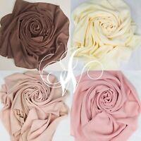 Chiffon Hijab Scarf High Quality Elegant Sarong Shawl Wrap Plain
