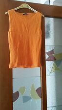 GILET PURA LANA VERGINE!!! marca SISLEY!! tg S ! arancione! aderente