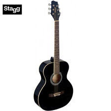 NEW Stagg SA20A-BLK Full Size Auditorium Acoustic Guitar - Black Finish