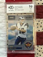 JARED GOFF (BCCG 10 MINT) 2018 Playoff Air Command Gold (10 MINT) Rams #13