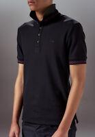 Marteino Men's Slim Fit Ribbed Short Sleeve Polo Shirt