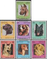Laos 981-987 (kompl.Ausg.) postfrisch 1987 Hunde