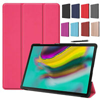 """Smart Premium Leather 10.5"""" Tablet Case Cover For Samsung Galaxy Tab S5e SM-T720"""