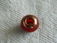Clogau Silver & 9ct Welsh Gold Cornelian Bead Charm RRP £99.00