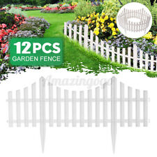 12Pcs Diy Fairy Garden Kit Border Fencing Fence Pannels Outdoor Decor Edging