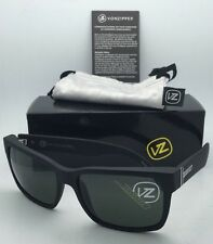 Authentic VONZIPPER Sunglasses VZ ELMORE Matte Black Satin Frames w/ Grey Lenses