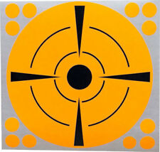 "Target Shooting Stickers 6"" Round Neon Orange w/ Black Adhesive Pasters 50 Total"