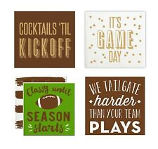 """Football Party 5"""" Cocktail / Beverage Paper Napkins, Pack of 20"""