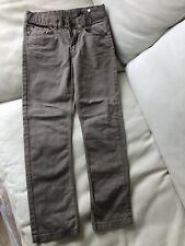Boys Jeans 8-9y Trousers brown Slim Pockets Adjust Waist H&M