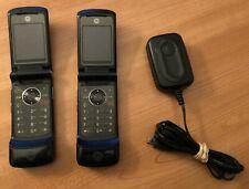 2 x Black Motorola KRZR K1m CDMA Cellular Phone (Virgin Mobile)