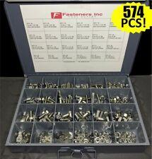 18 8 Stainless Steel Hex Cap Screw Bolt Nut Washer 304 Assortment Kit 574 Pcs