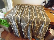 """NEW TAUPE & TAN CURTAIN PANEL LINED ROOM DARKENING 53w X 56"""" 2 available NWOT"""