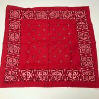 Vintage Red WASHFAST RN14193 Bandana Floral Handkerchief MADE IN USA