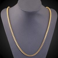Goldkette Herrenkette vergoldet Panzerkette für Männer Hals kette Schmuck Gold