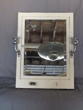 Antique Metal Recessed Medicine Cabinet Chest Chrome Sconce Old Vtg 279 18P
