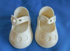"""Vintage White Dolshoes Doll Shoes for 18 - 20"""" Doll"""
