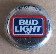 BUD LIGHT TWIST OFF BUDWEISER ANHEUSER BUSCH OBSOLETE NO DENT BEER BOTTLE CAP