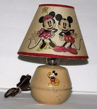 "DISNEY1930's MIC​KEY MOUSE""TIN DESKTOP LAMP-SORENG MANEGOLD+""H​AND PAINTED""SHADE"