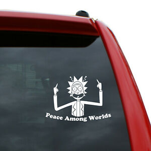 """Peace Among Worlds Vinyl Decal   Color: White   5"""" tall"""