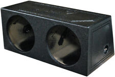 Q Power QBOMB12S Dual 12-Inch Sealed Speaker Box with Durable Bed Liner Spray