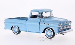 Chevrolet Apache Fleetside Pick Up bleu 1958 1/24 Motormax