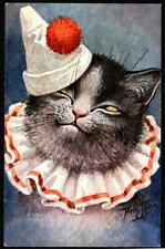 "CAT ARTIST A.THEILE. ""DRESSED "". 1900  OLD   POSTCARD."