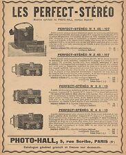Y9662 Photo-Hall - LES PERFECT-STEREO - Pubblicità d'epoca - 1907 Old advert