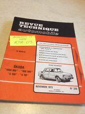 Revue Technique Automobile Skoda 1000 1100 MB S100 S110 , évolution Opel Kadett